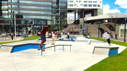 Jaarbeursplein skatepark & freerun